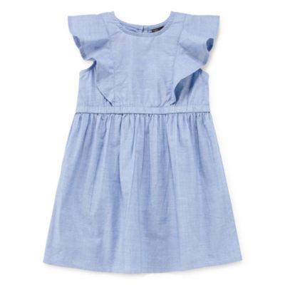 City Streets Sleeveless A-Line Dress - Toddler Girls