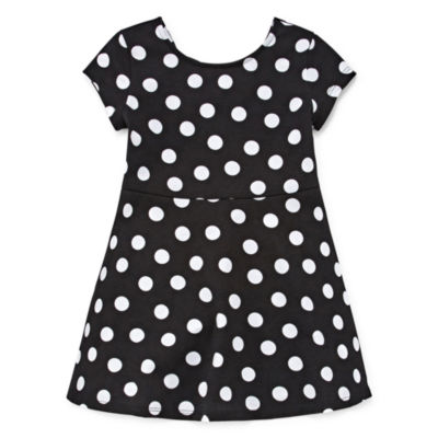 City Streets Short Sleeve Skater Dress - Toddler Girls
