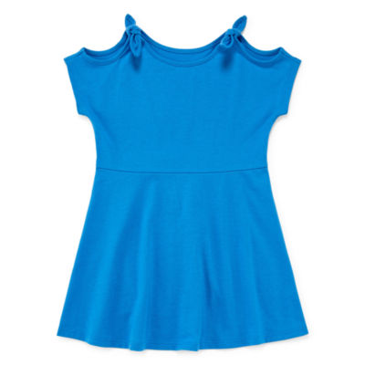 City Streets Short Sleeve Pattern A-Line Dress - Toddler Girls