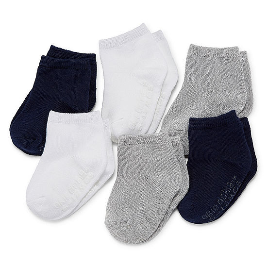 Okie Dokie Baby Unisex 6 Pair Crew Socks