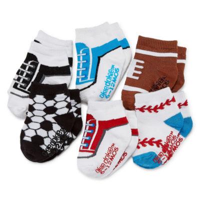 Okie Dokie Sport 6 Pack Crew Socks - Baby