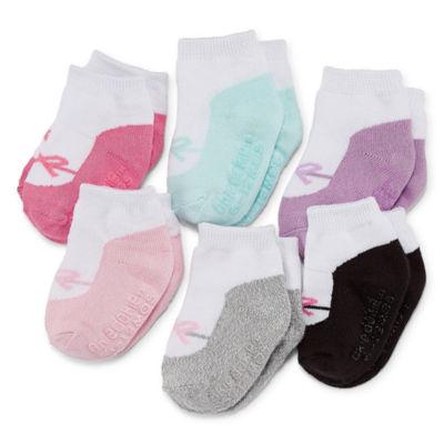Okie Dokie Ballerina 6 Pack Crew Socks - Baby