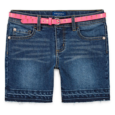 Arizona Belted Midi Shorts Girls 4-16 and Plus