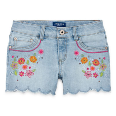 Arizona Fashion Denim Shortie Shorts Girls 4-16 and Plus