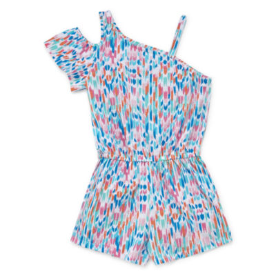 Arizona One Shoulder Sleeve Romper - Big Kids
