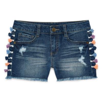 Vanilla Star Denim Shorts - Big Kid Girls