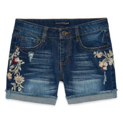 Vanilla Star Midi Shorts-Big Kid Girls