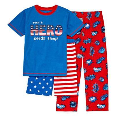 Baby Buns 3-pc. Pajama Set Boys