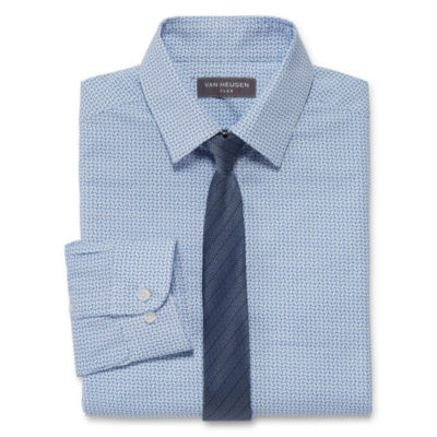 Van Heusen Flex Boys Shirt + Tie Set 8-20 - Reg