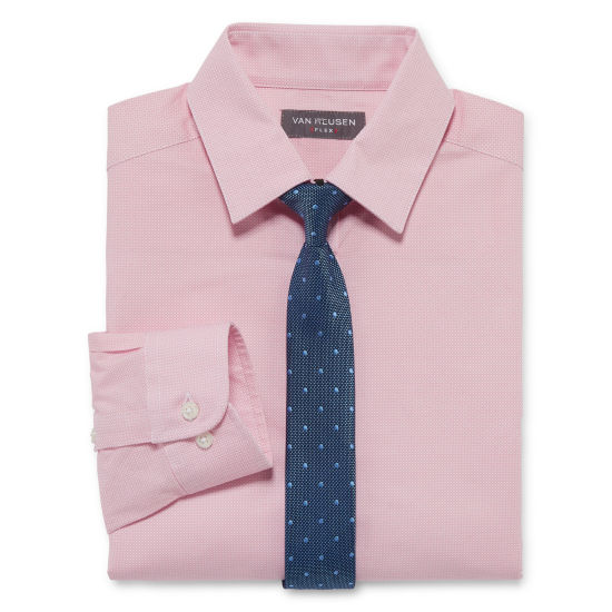 Van Heusen Long Sleeve Flex Shirt + Tie Set - Boys 8-20 - Regular