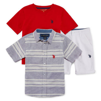 U.S. Polo Assn. 3-pc. Short Set - Preschool Boys
