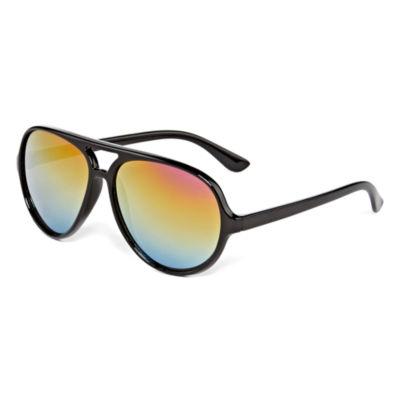 Black Full Frame Aviator Sunglasses - Boys