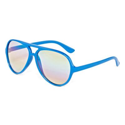 Blue Full Frame Aviator Sunglasses - Boys