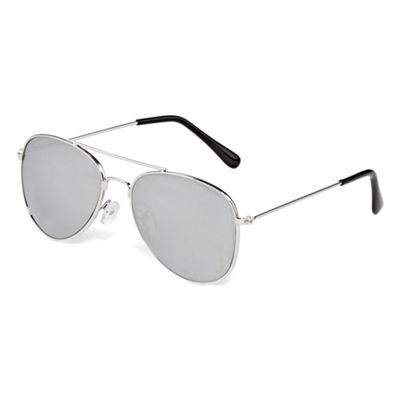 Silver Metal Full Frame Sunglasses - Boys