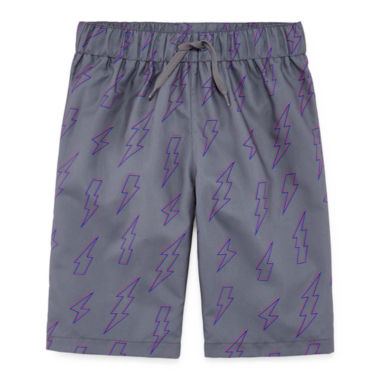 City Streets Lightening Bolt Swim Trunk - Boys 4-20 & Husky