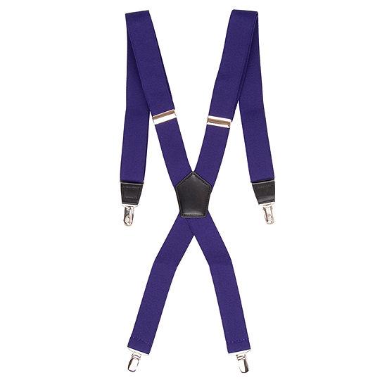JF J.Ferrar® Solid Purple Suspenders