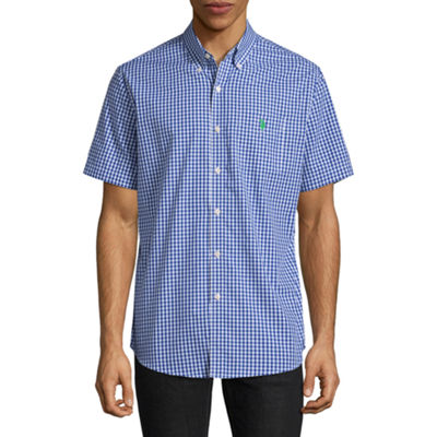 U.S. Polo Assn. Short Sleeve Checked Button-Front Shirt