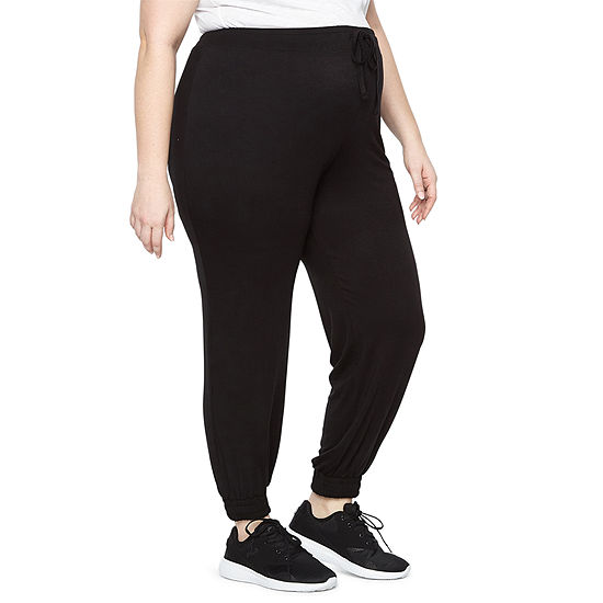 Planet Motherhood Jersey Jogger Pants - Plus Maternity