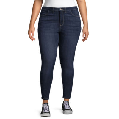 Wallflower Skinny Fit Jeggings-Juniors Plus