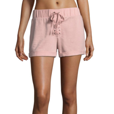 Flirtitude Lace Up Shorts - Juniors