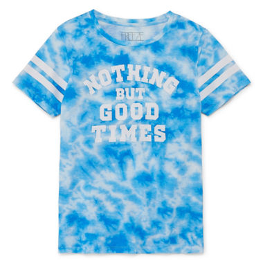 """Good Times"" Tie Dye Tee - Juniors Plus"