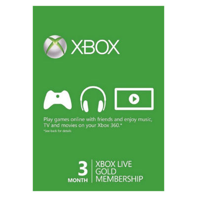 Microsoft - Xbox Live 3-Month Gold Membership