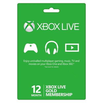 Microsoft - Xbox Live 12-Month Gold Membership