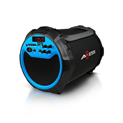 Axess Indoor/Outdoor Bluetooth, 6 Subwoofer/3 Horn 2.1 Blue Speaker