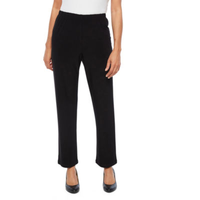 Alfred Dunner Upper East Side Knit Flat Front Pants-Petite