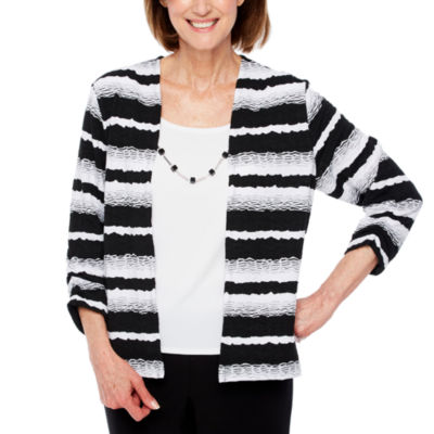 Alfred Dunner Upper East Side 3/4 Sleeve Layered Top-Petites