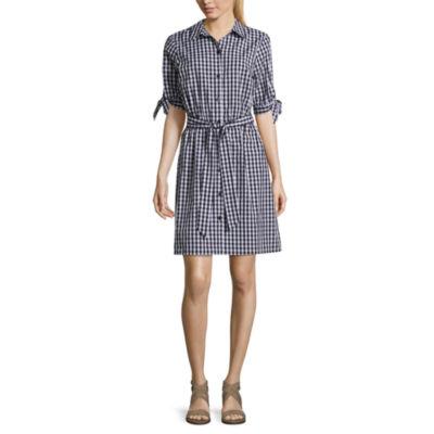 Alyx Elbow Sleeve Shirt Dress