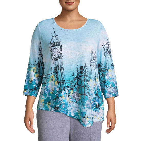 Alfred Dunner Play Date Big Ben Tee- Plus