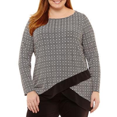 Liz Claiborne Long Sleeve Tiered Tunic - Tall