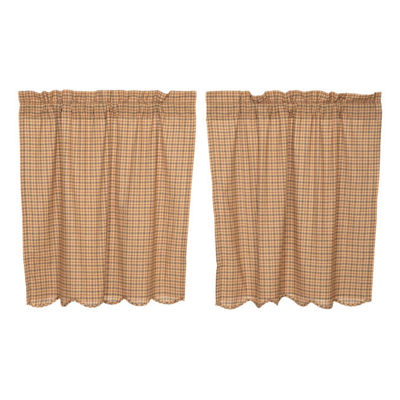 Rustic & Lodge Window Millsboro Scalloped Tier Pair