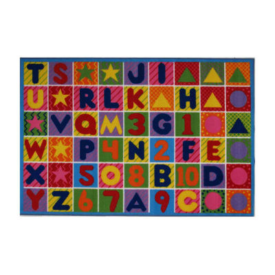 Numbers & Letters Rectangular Indoor Rugs