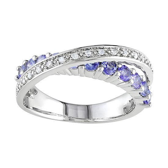 Sterling Silver Tanzanite & Diamond-Accent Ring