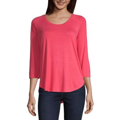 a.n.a® Long-Sleeve Lace Sweatshirt - Tall