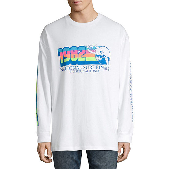 Arizona Mens Crew Neck Long Sleeve Layered Top