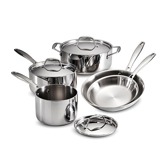 Tramontina Gourmet 8-pc. Tri-Ply Clad 18/10 Stainless Steel Induction-Ready Cookware Set