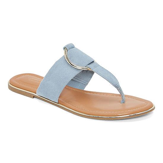 Liz Claiborne Womens Calayan Flat Sandals