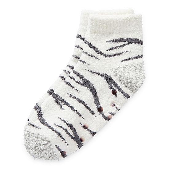 Legale Zebra Slipper Socks Womens
