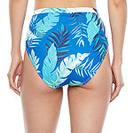 Peyton & Parker Leaf High Waist Bikini Swimsuit Bottom