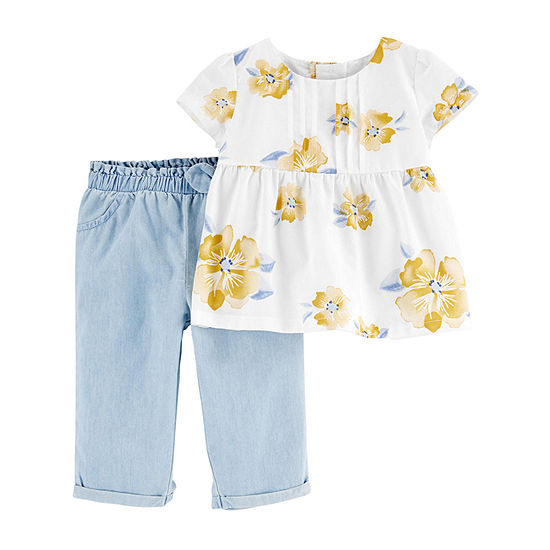 Carter's Baby Girls 2-pc. Pant Set