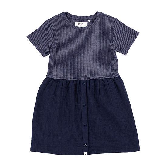 Retreat Los Angeles Little & Big Girls Short Sleeve A-Line Dress