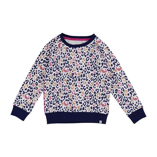 Retreat Los Angeles Little & Big Girls Crew Neck Long Sleeve Sweatshirt