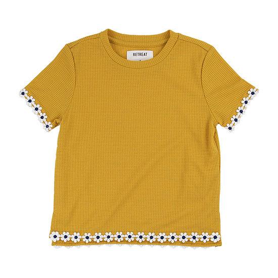 Retreat Los Angeles Little & Big Girls Round Neck Short Sleeve T-Shirt