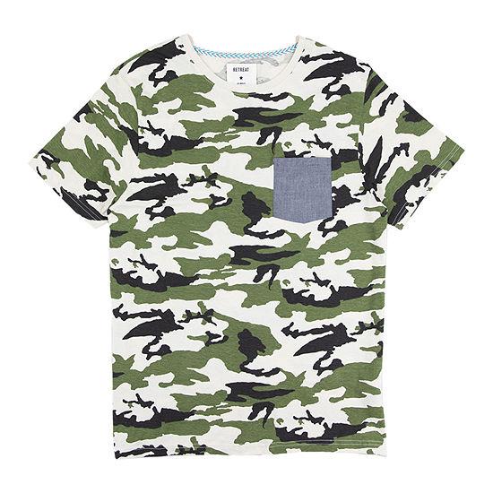 Retreat Los Angeles Mens Crew Neck Short Sleeve Graphic T-Shirt