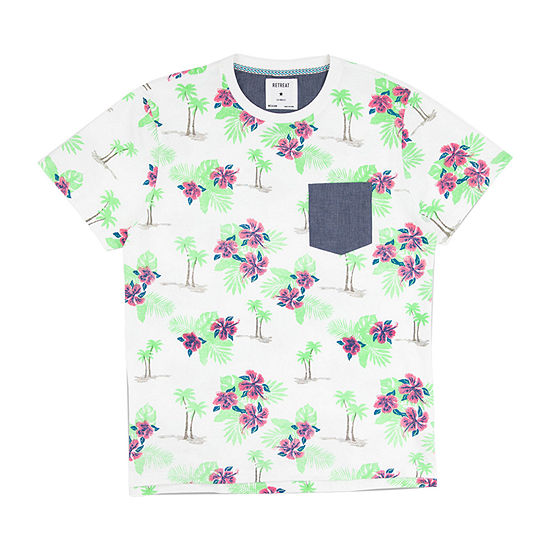 Retreat Los Angeles Mens Crew Neck Short Sleeve T-Shirt