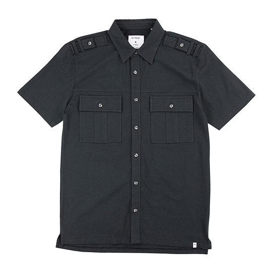 Retreat Los Angeles Mens Short Sleeve Button-Down Shirt