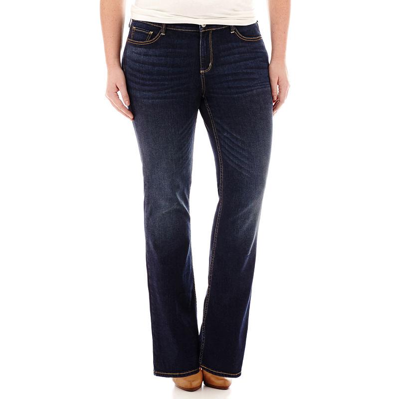12b1856cc3f Arizona Bootcut Jeans-Juniors Plus plus size